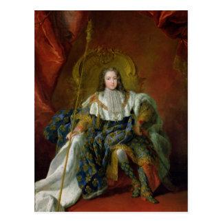 Louis XV  1723 Postcard