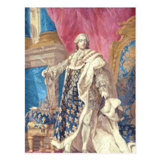 Louis XV  in Coronation Robes Postcard
