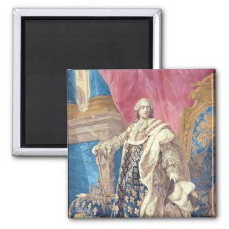 Louis XV  in Coronation Robes Square Magnet