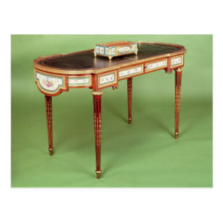 Louis XVI bureau plat with pale tulipwood veneer Postcard