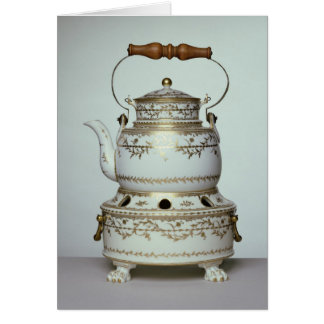 Louis XVI porcelain kettle and stand made in Card