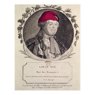 Louis XVI  wearing a phrygian bonnet Postcard
