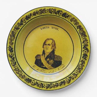 Louis XVIII France Paper Plate