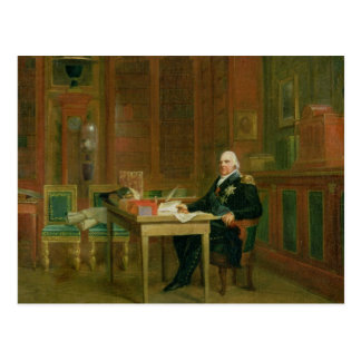 Louis XVIII  in his Study at the Tuileries Postcard