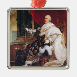 Louis XVIII Silver-Colored Square Ornament
