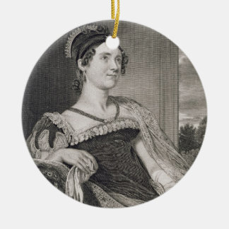 Louisa Catherine Adams (1775-1852) engraved by G.F Ceramic Ornament