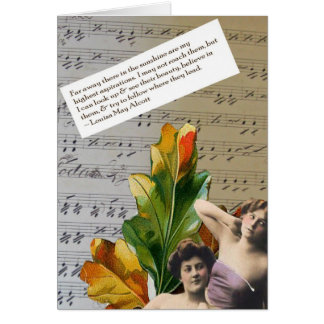 Louisa Mae Alcott Quote Collage Greeting Card