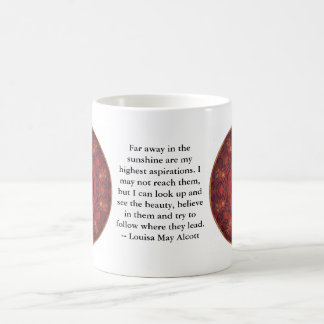 Louisa May Alcott INSPIRATIONAL QUOTE Coffee Mug