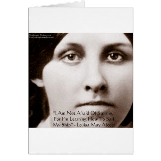 """Louisa May Alcott """"Learning To Sail"""" Wisdom Gifts Card"""