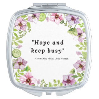 Louisa May Alcott, Little Women Quote Compact Mirror