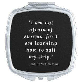 Louisa May Alcott, Little Women Quote Makeup Mirror