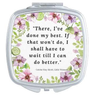 Louisa May Alcott, Little Women Quote Mirror For Makeup