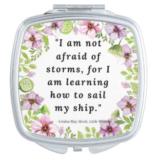 Louisa May Alcott, Little Women Quote Travel Mirror