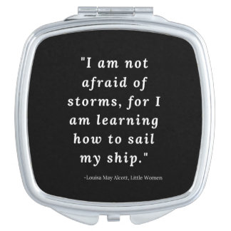 Louisa May Alcott, Little Women Quote Travel Mirror