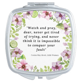 Louisa May Alcott, Little Women Quote Travel Mirrors