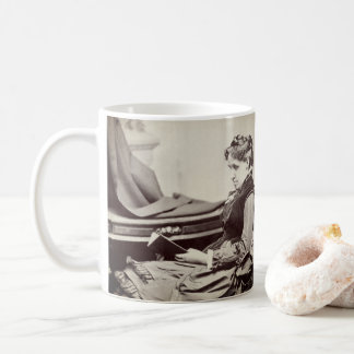 Louisa May Alcott photograph - fond of books Coffee Mug