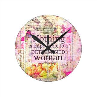 Louisa May Alcott WOMAN quote Clocks