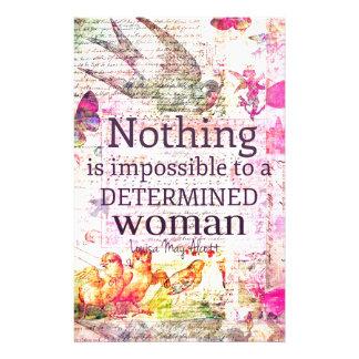 Louisa May Alcott WOMAN quote Custom Stationery