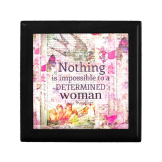 Louisa May Alcott WOMAN quote Gift Box