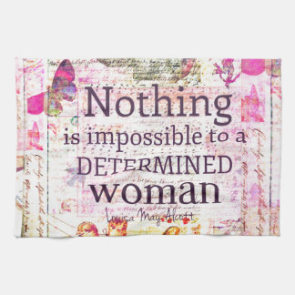 Louisa May Alcott WOMAN quote Hand Towel