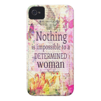 Louisa May Alcott WOMAN quote iPhone 4 Case-Mate Case