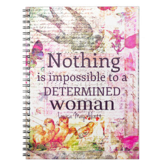 Louisa May Alcott WOMAN quote Notebooks