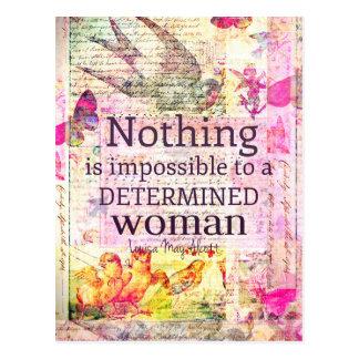 Louisa May Alcott WOMAN quote Postcard