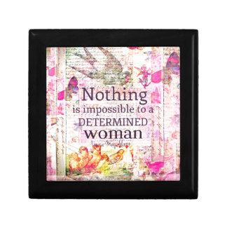 Louisa May Alcott WOMAN quote Trinket Box