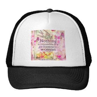 Louisa May Alcott WOMAN quote Trucker Hat
