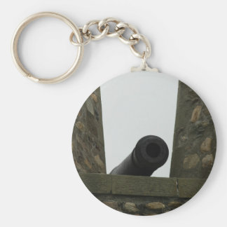 Louisbourg Fortress Canon Basic Round Button Keychain