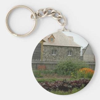 Louisbourg Fortress Garden Basic Round Button Keychain