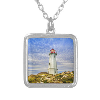 Louisbourg Lighthouse Silver Plated Necklace