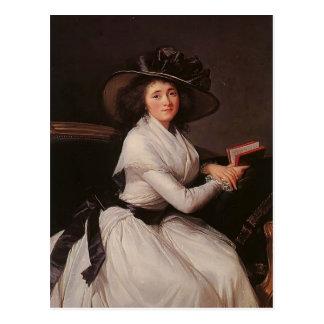 Louise Elisabeth Vigee Le Brun- Countess of Châtre Postcard