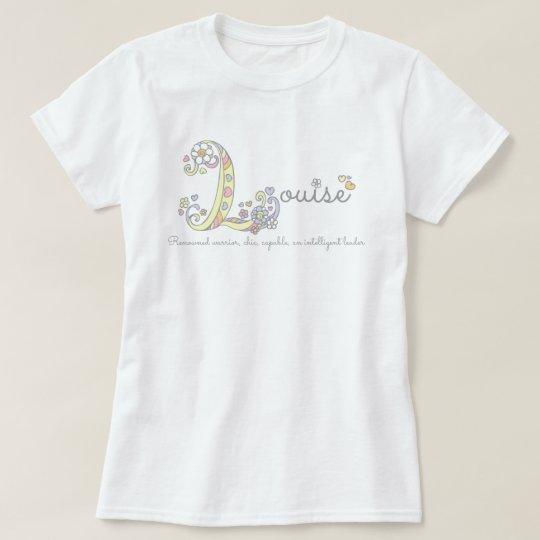 Louise girls L name meaning monogram tee