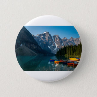 Louise lake in Banff national park Alberta, Canada 2 Inch Round Button