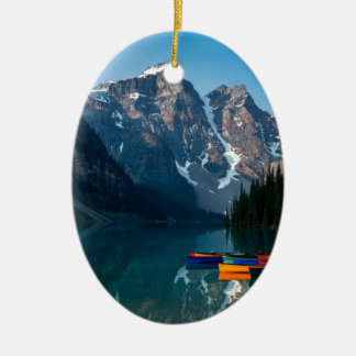 Louise lake in Banff national park Alberta, Canada Ceramic Ornament