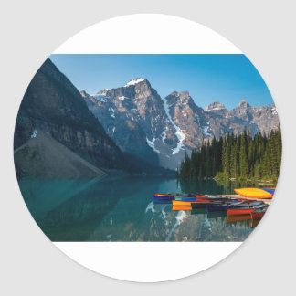 Louise lake in Banff national park Alberta, Canada Classic Round Sticker