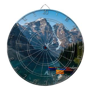 Louise lake in Banff national park Alberta, Canada Dartboard