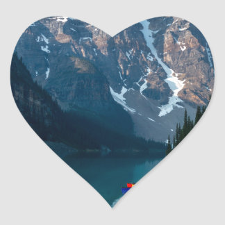 Louise lake in Banff national park Alberta, Canada Heart Sticker