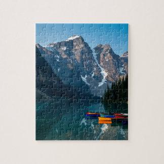 Louise lake in Banff national park Alberta, Canada Jigsaw Puzzle