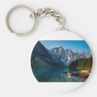 Louise lake in Banff national park Alberta, Canada Keychain