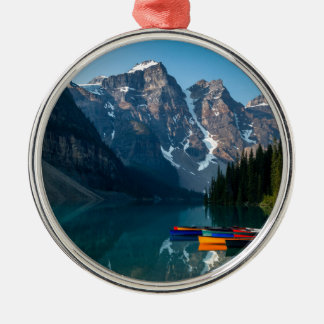 Louise lake in Banff national park Alberta, Canada Metal Ornament