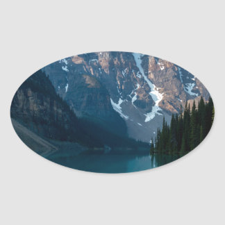 Louise lake in Banff national park Alberta, Canada Oval Sticker