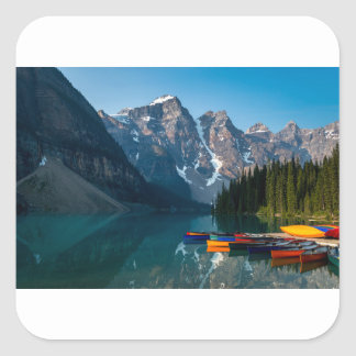 Louise lake in Banff national park Alberta, Canada Square Sticker