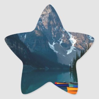 Louise lake in Banff national park Alberta, Canada Star Sticker