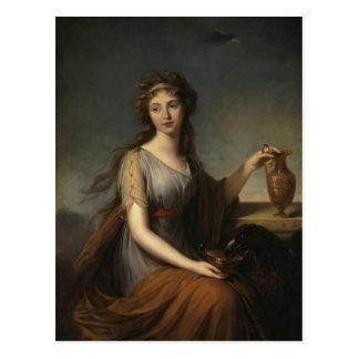 Louise Le Brun- Portrait of Anna Pitt Postcard