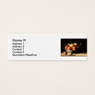 Louise Moillon's Bowl of Curacao Oranges (1634) Mini Business Card