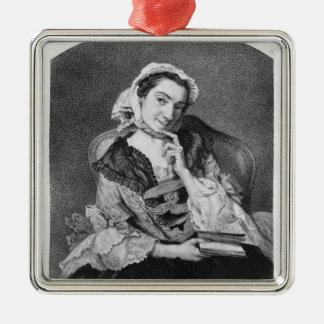 Louise Tardieu d'Esclavelles Silver-Colored Square Ornament