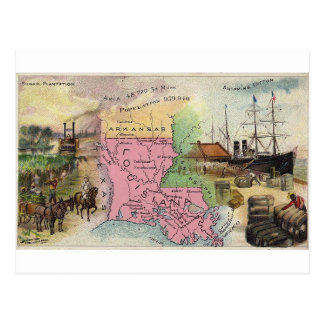 Louisiana, 1889 vintage card
