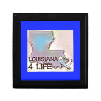 """Louisiana 4 Life"" State Map Pride Design Gift Box"